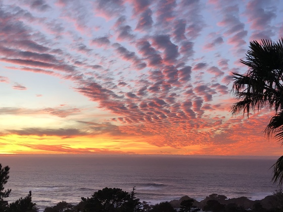 Sunset from Carmel Highlands January 11, 2018