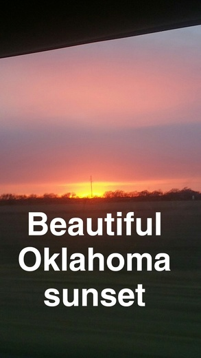 Beautiful Oklahoma Sunset