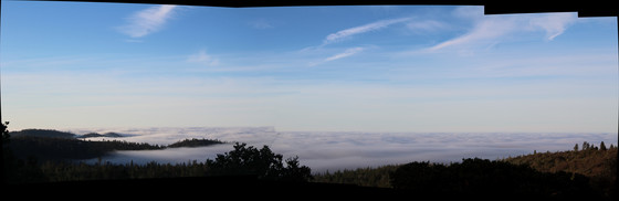 Fog in the central valley.