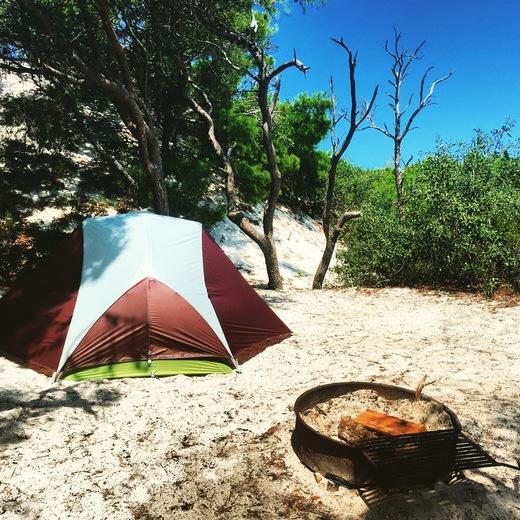 Camping at Port St Joe's