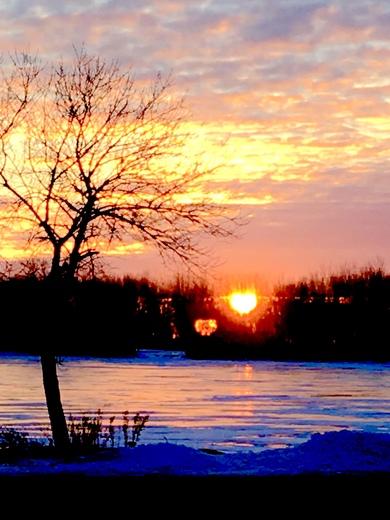 I ❤️ Twin Lakes.  This mornings sunrise.
