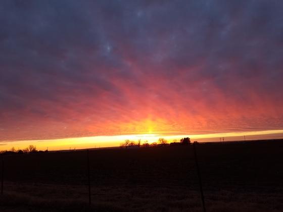 Sunset in Watonga.
