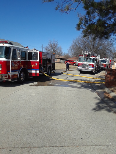 House Fire in MWC