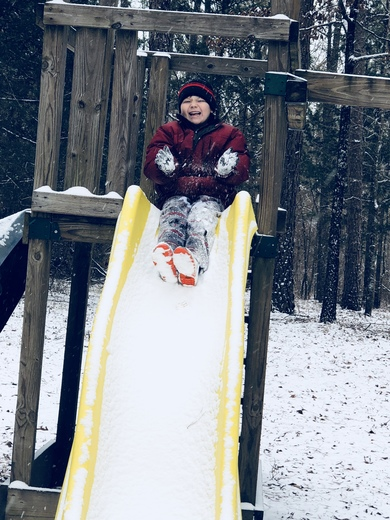 2018 snow day in Canton MS