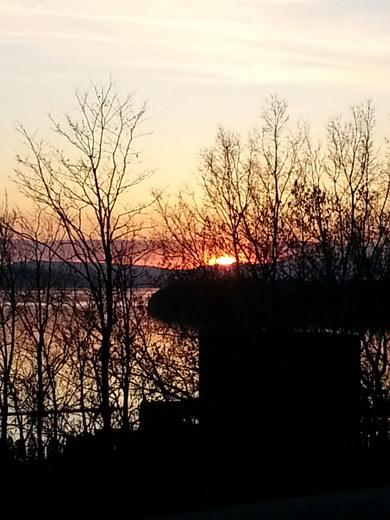 Battery Park sunset . April 2015