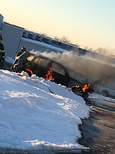 Vehicle fire off of Blankenbaker