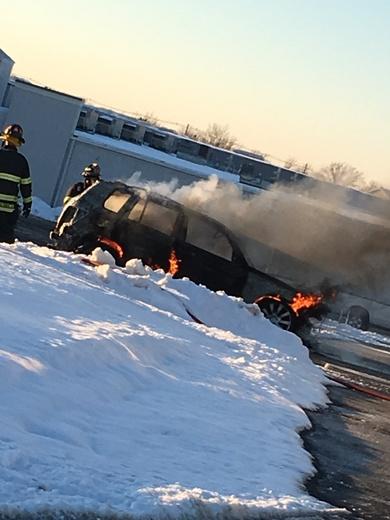 Vehicle fire off of Blankenbaker