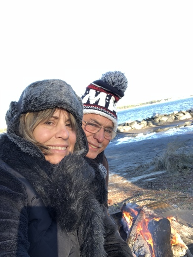 Camping on a very cold day January 2, 2018