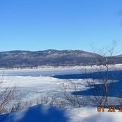 Rencontre de la Baie glacée avec l'eau libre du Golfe