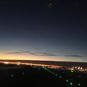 Vue du ciel-Charlotte et son coucher du soleil.
