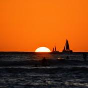 Ships in the sun