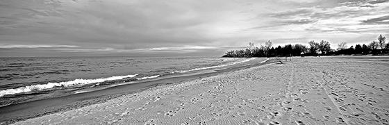COLD, WINDY BEACH