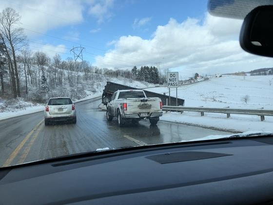 Truck went off road into field on 422 towards Elderton,Pa by farester road.