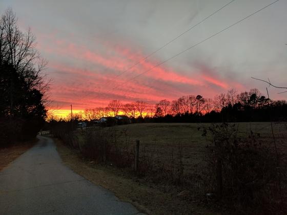 Sunset  at Circle M Ranch