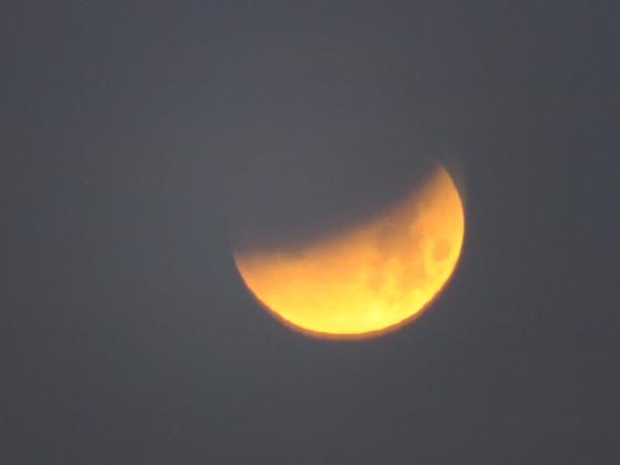 Lunar eclipse of the Full, Blue, Super Moon