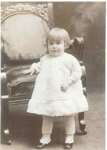 Ruth M. Brackett Coste as a child