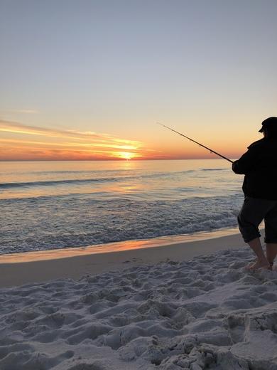 Sunset Fishing on Grayton BeCh