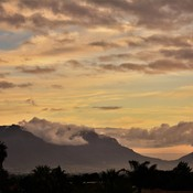 Table Mountain from Plattekloof Road.