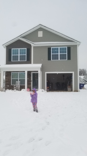 First SNOW at our New Home.