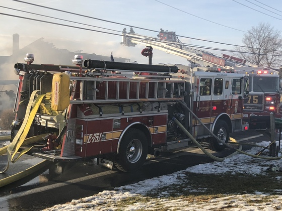 Photo from the fire today on Union School Rd. In East Donegal Township.