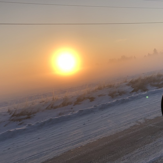 Beautiful sunny & fog with 10 temperature at Gilmore City, Iowa