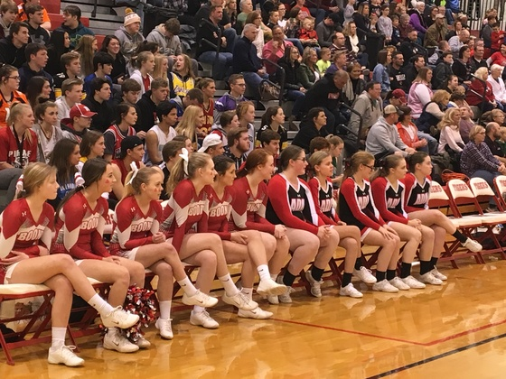 ADM and Boone cheerleaders
