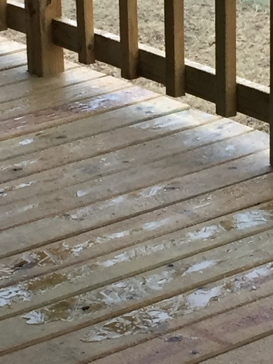 Back deck and cars are already beginning to ice in Bokoshe Oklahoma