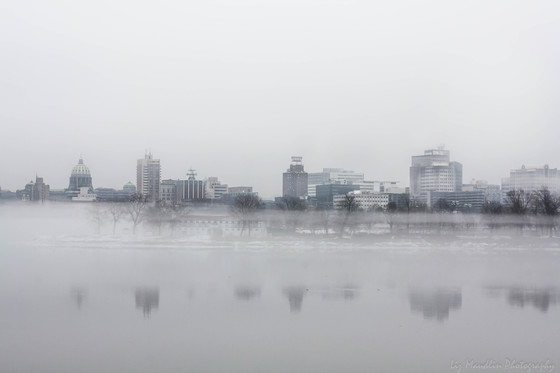 Harrisburg in the fog. February 11, 2018