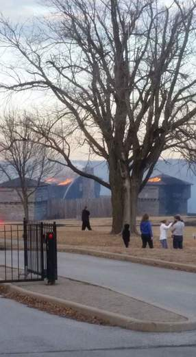 Fort Osage on fire this afternoon