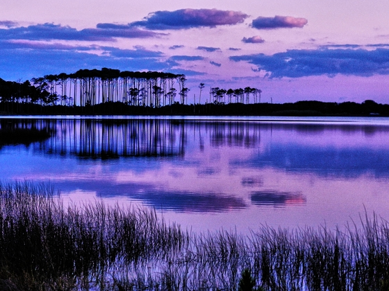 Sunset Reflections at Our Rare Coastal Dune Lake