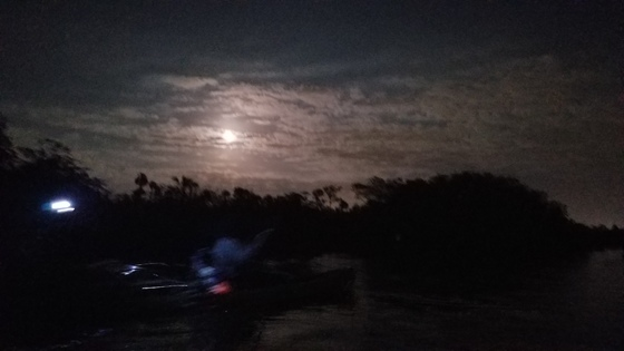 Blue Moon from a Kayak