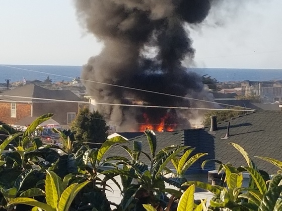 House fire 1200 block of Hamilton Ave. in SEASIDE around 5:00 PM today.