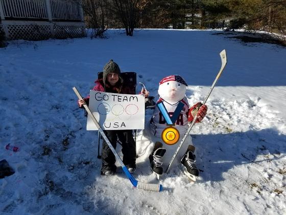 Snowman brings good luck to USA Women's Hockey
