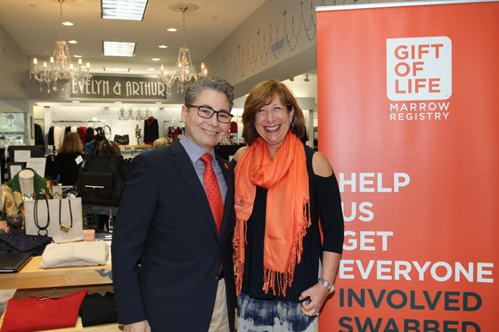 Gift of Life Marrow Registry partnered with Evelyn & Arthur stores for the month of February