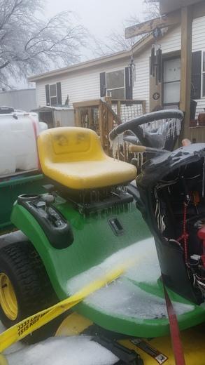 Frozen mower