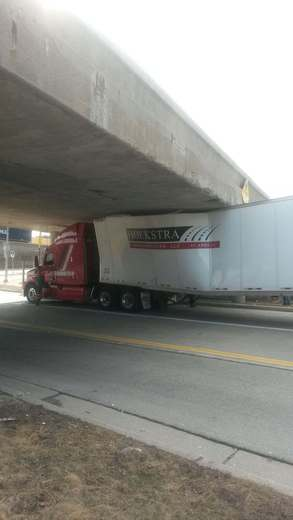 Today at I-94 and General Mitchell Blvd.