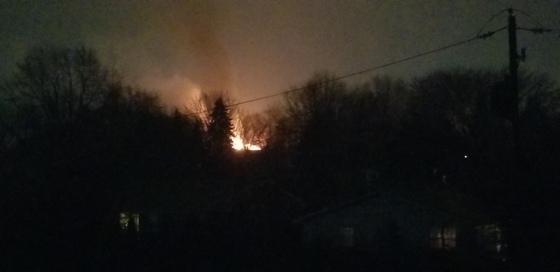 Fire on South Farmersville Road in Leola