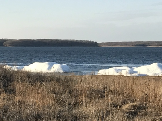 Photos of icebergs on Lake Rathbun. Beautiful day!!