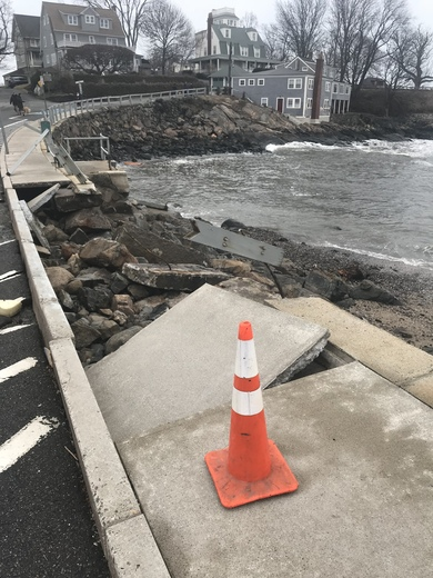 Storm damage in Marblehead