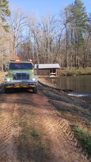 26 acre brush fire in the Forbush community of Yadkin County