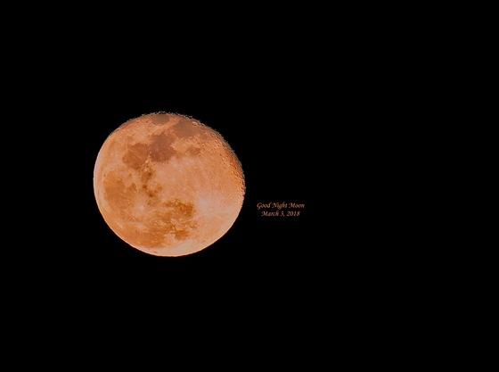 Good Night Moon, March 3, 2018