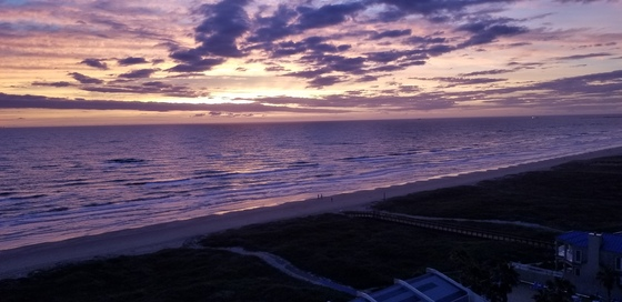 Sunrise on South Padre Island.
