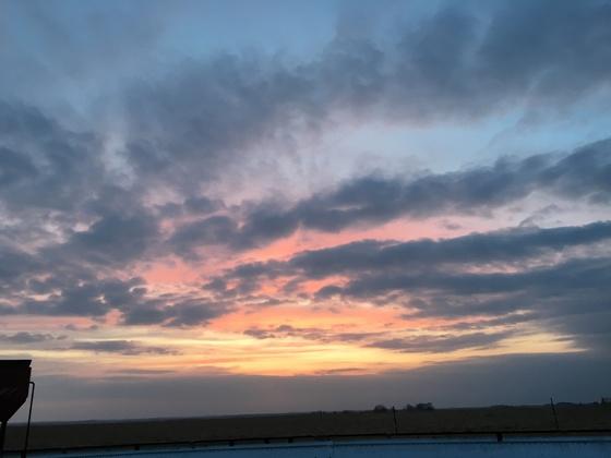 Saturday night sunset