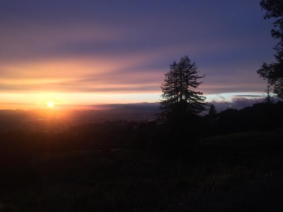 Friday sunset from Hecker Pass Rd, Watsonville