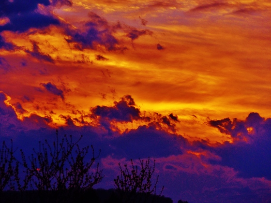 sunset clouds, 3-10-2018