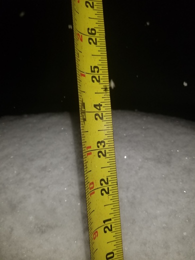 Snow total in Barnstead 3/13