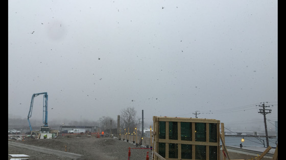 Pictures of downtown taken from Union Terminal during, and right after, a snow squall.