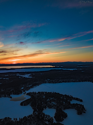 Sunset over Sebago