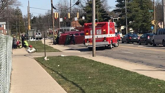 Wreck in front of deer park high school