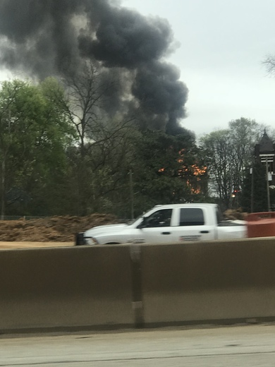 View of apartment fire Now from. I-20